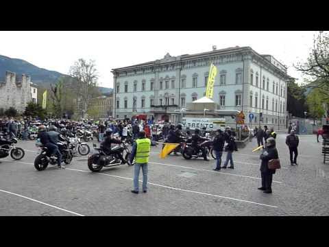 Benedizione moto 2013 l'arrivo in piazza Fiera