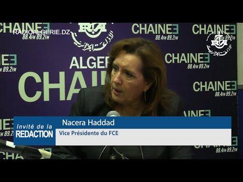 Nacera Haddad Vice Présidente du FCE
