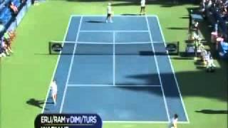 ATP 2011 Los Angeles R1 Erlich/Ram vs Dimitrov/Tursunov Part 1