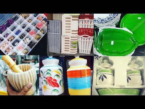 Ceramic jar shopping vlog/glass jar collection/Cosmatic organizer/multipurpose storage box