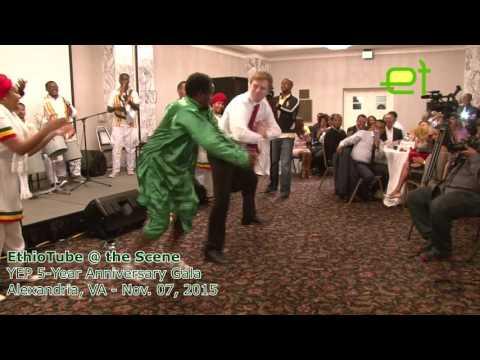 [Very Funny] Ethiopia:  American dude learns Gurage dance moves at YEP 5-Year Anniversary Gala thumbnail