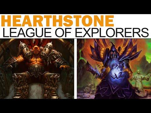Hearthstone - League Of Explorers - Warrior & Warlock Class Challenges!