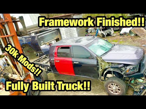 Rebuilding My Wrecked Heavily modified 2017 Ram Mega Cab Cummins From Salvage Auction Part 3