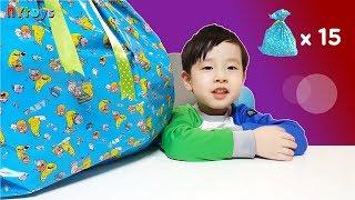 뉴욕이 5살 때 어린이집 생일 선물 개봉기 장난감 사인펜 색종이 칫솔 치약 등등 뉴욕이랑 놀자 NY Toys