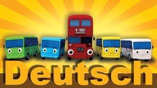 Zehn kleine Busse | Kinderlieder | LittleBabyBum