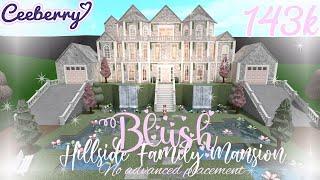 Bloxburg Blush Hillside Family Mansion 143k   no advanced placement