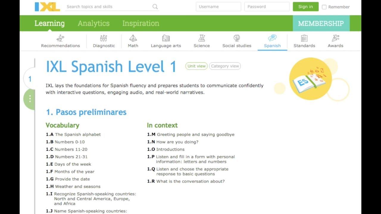 IXL Spanish: Personalized world language learning - YouTube