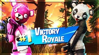 PANDA TEAM LEADER and CUDDLE TEAM LEADER play TOGETHER? (Fortnite Battle Royale Gameplay)