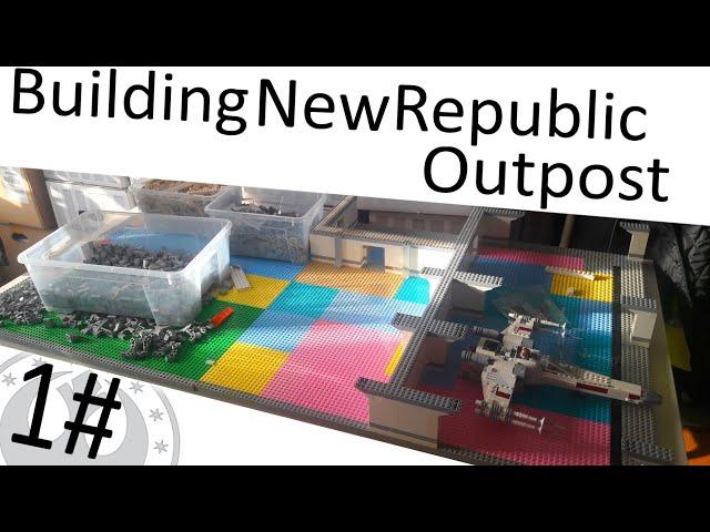 Building New Republic Outpost Moc #1 Der Grundriss