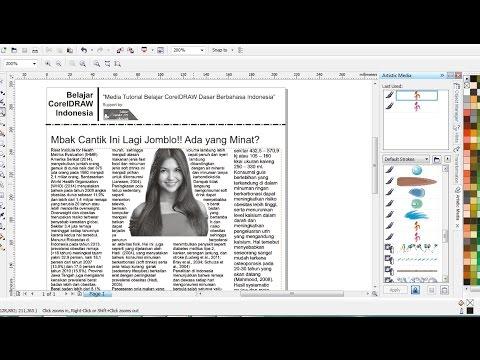 Membuat Layout Koran / Majalah dengan CorelDRAW | Belajar CorelDRAW