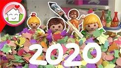 Playmobil Familie Hauser - Konfetti Silvester Party 2019 - Video für Kinder