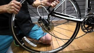 車輪の外し方 リア(後輪)ロードバイク