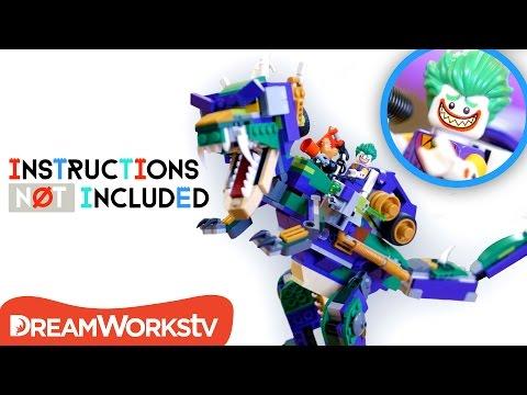 LEGO Mashup: Jurassic Joker Dinosaur Mech   INSTRUCTIONS NOT INCLUDED