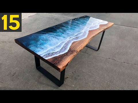 15 MOST Amazing Custom Tables - Epoxy Resin and Wood River