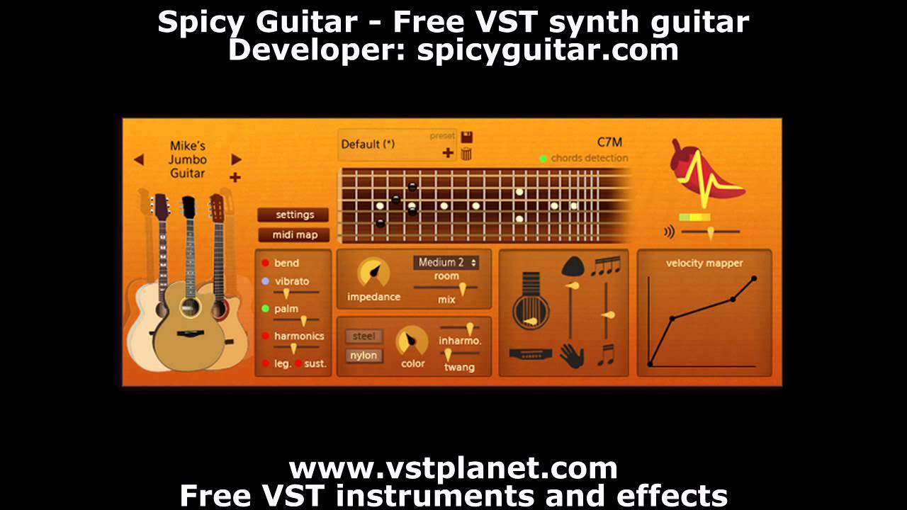 spicy guitar free vst synth guitar youtube. Black Bedroom Furniture Sets. Home Design Ideas