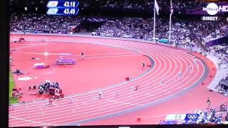 jo 2012 freres borlee final 400m 06/08/2012