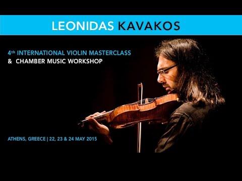LEONIDAS KAVAKOS | 4th International Violin Masterclass 2015