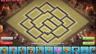 Clash of Clans - TH 9 warbase (no xbow) + defense
