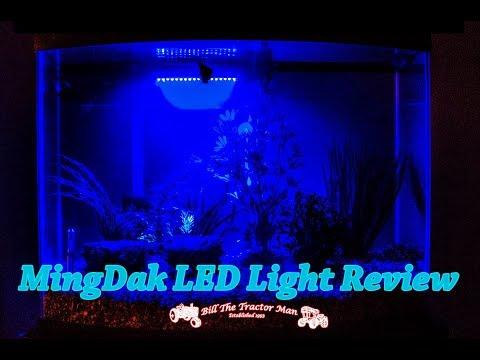 MingDak Blue LED Aquarium Light TEST & REVIEW