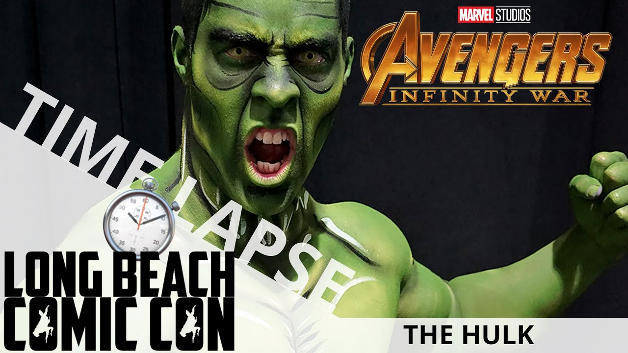 The Hulk (Time Lapse) | Long Beach Comic Con 2018 | EI Makeup School