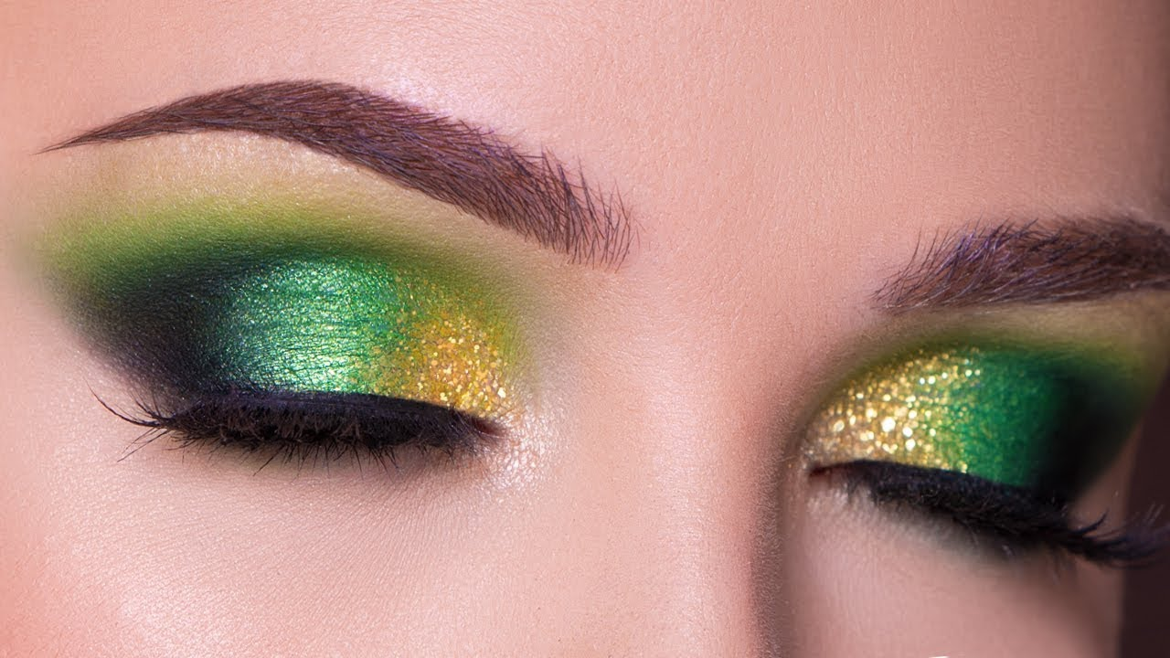 Green And Gold Smokey Eye Makeup Tutorial Fall Makeup Youtube