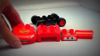 Cars Tractor Tipping Mega Bloks Lego Toy Set Frank, Tractor, Lightning Mcqueen Disney Pixar