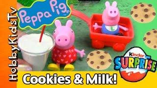 vuclip Peppa Pig TOY Cookies n' Milk! Surprise Kinder Egg FUN HobbyKidsTV