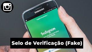 Como ter a verificação do instagram (Fake) !