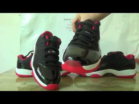 Authentic VS Fake air jordan 11 low bred
