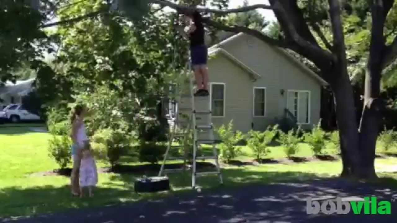 how to build a tire swing set