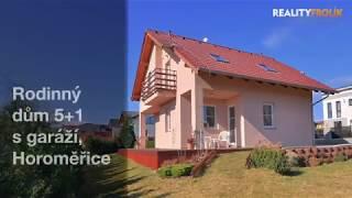 Videoprohlídka - Rodinný dům 5+1 s garáží, na prodej - Horoměřice, Praha - západ