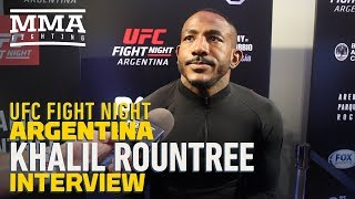 UFC Argentina: Khalil Rountree Ignoring Critics Who Call KO of Gokhan Saki 'Lucky Punch'
