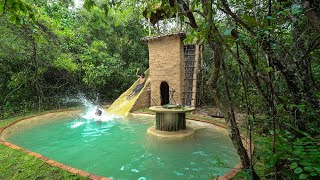 Build The Most Temple Two Story House Water Slide Park To Underground Swimming Pools