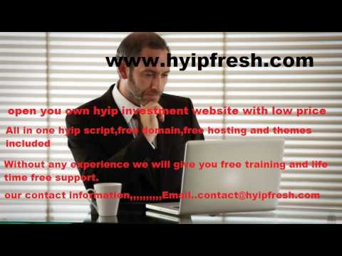 Professional Hyip Templates and very easy hyip script