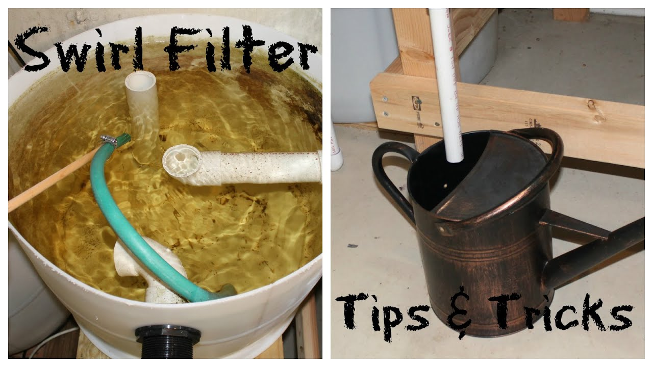 Aquaponics Swirl Filter Tips And Tricks Youtube