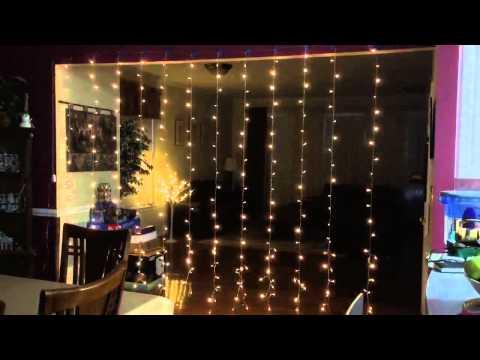 Kohree 3Mx3M 300 LED Outdoor Party Xmas Fairy Curtain Light