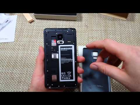 Samsung Galaxy Note EDGE Remove Replace Install Sim Card, SD Memory Card, Battery & Back Cover