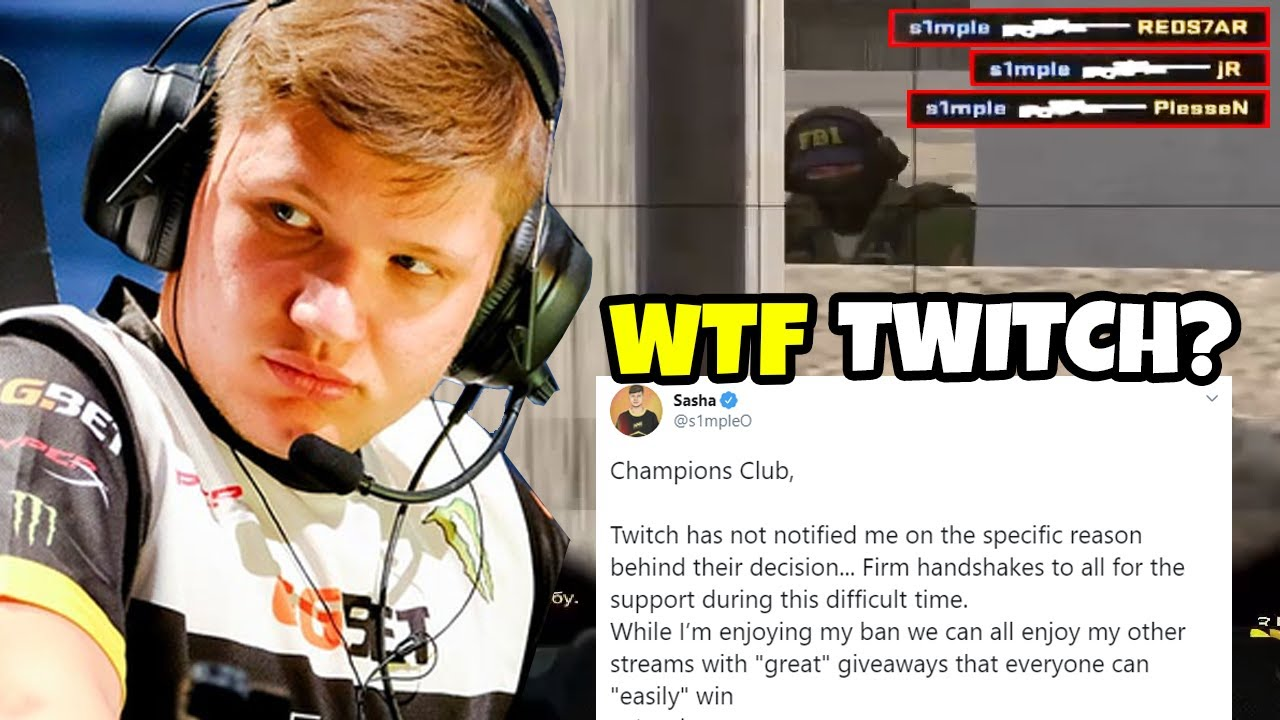 This is why S1MPLE is banned on twitch (being too good) - s1mple CS:GO Moments