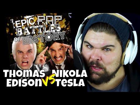 Nikolas Tesla vs Thomas Edison Epic Rap Battles of History Reaction