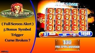 ( Full Screen ) WMS - King of Africa : Epic 100 spins Bonus