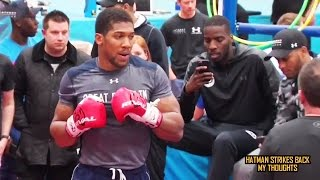 ANTHONY JOSHUA - INCREDIBLE POWER & SPEED!!! TRAINING FOR KLITSCHKO!!! PADS & HEAVY BAG (PUNCH BAG)