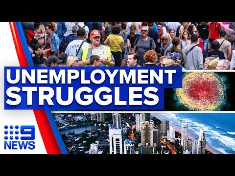 Coronavirus: Unemployment rate drops but sectors still struggling | 9 News Australia