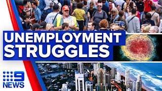 Coronavirus: Unemployment rate drops but sectors still struggling   9 News Australia
