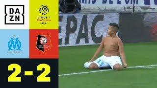 Kleiner Junge stiehlt allen die Show: Marseille - Rennes | 2:2 | Ligue 1 | DAZN Highlights