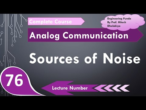 Sources Of Noise In Communication Systems, Communication Engineering By Engineering Funda