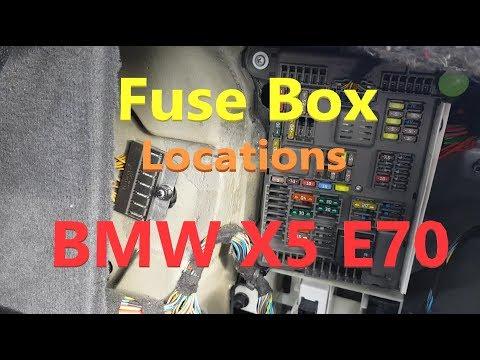 bmw x5 e70 fuse box locations - youtube  youtube