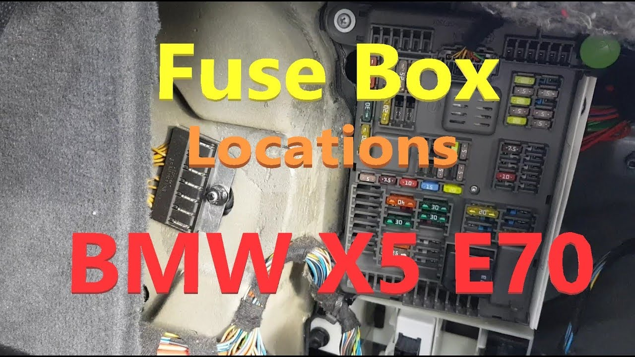 BMW X5 E70 Fuse box locations - YouTube