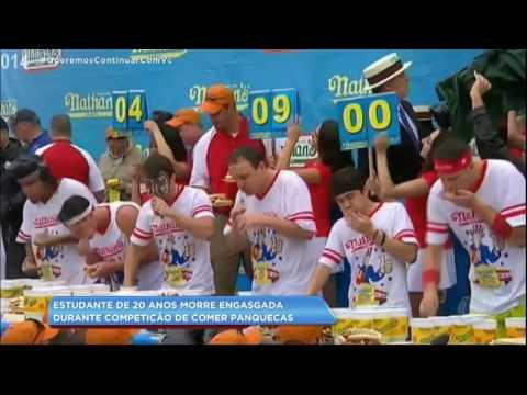 Estudante morre engasgada durante competição de comer panquecas