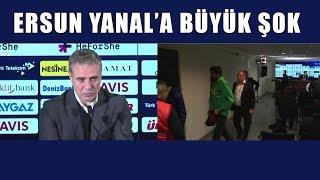 Ersun Yanal'a büyük şok! Muhabirler basın toplantısını terk etti!