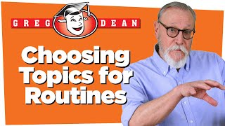 Choosing Topics for Stand Up Comedy Routines: How to Write Jokes - Greg Dean